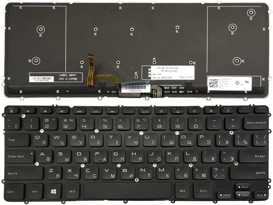 GAOCHENG Laptop Keyboard for DELL XPS 15 9530 Precision M3800 P31F PK130YI1A06 MP-13C13SUJ698 Russia RU Black with Backlit New