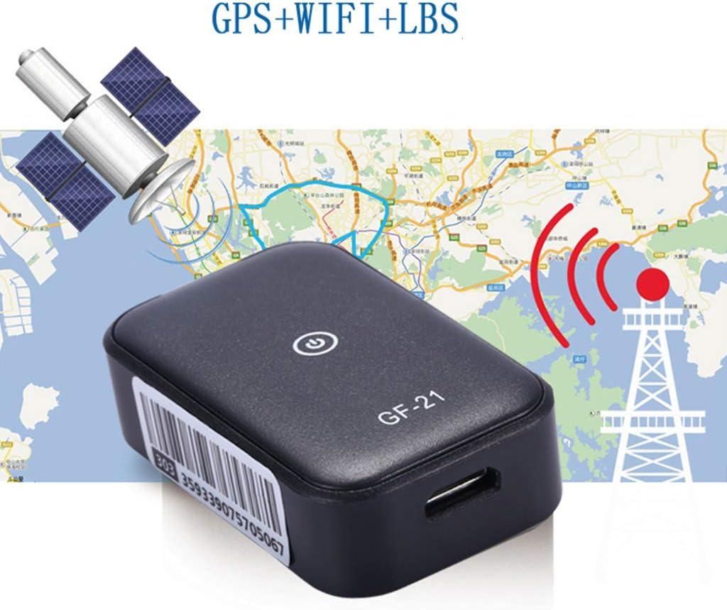 Localizador de grabación en tiempo real para coche GF21 con mini dispositivo GPS, micrófono de alta definición LBS+GPS + dispositivo de posicionamiento WiFi: Amazon.es: Hogar