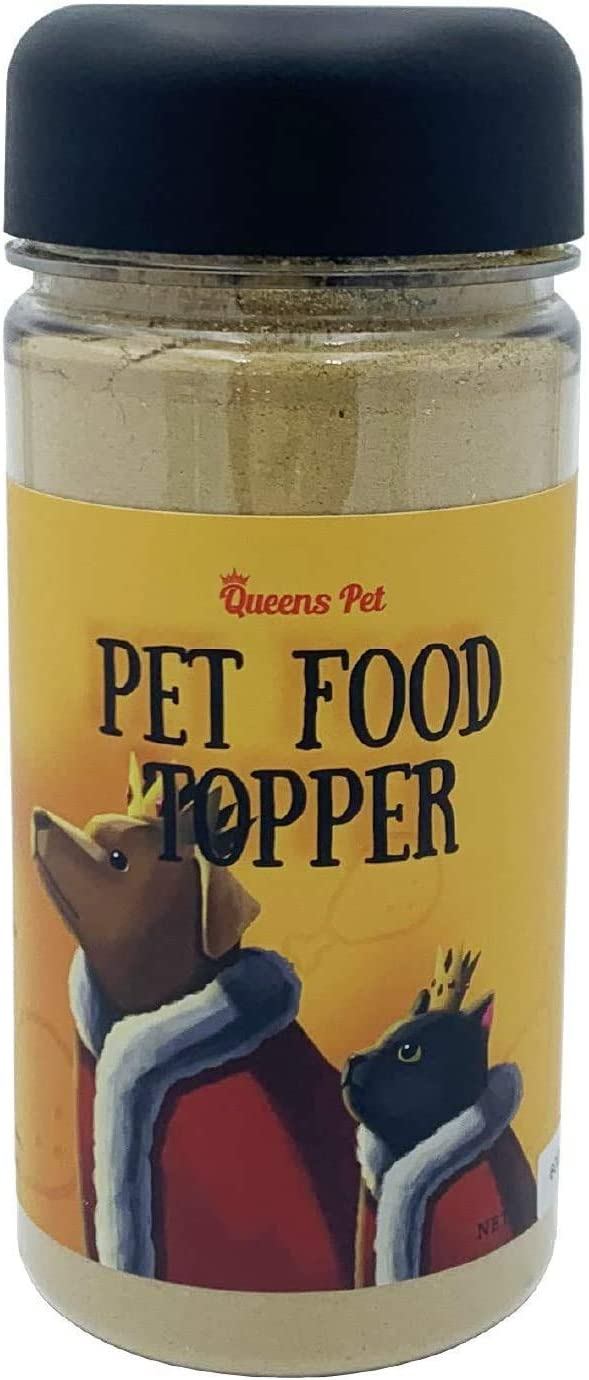 Queens Pet Topper Series Chicken(6oz) Flavor & Nutrition Pet Food Seasoning for Dogs & Cats Pet Booster Pet Mix, Broth, Treat, Kibble, Raw Picky Eater No Additives, Preservatives 100% Raw Materials