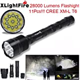 Iuhan XLightFire 28000 Lumens 11x XML T6 5 Mode 18650 Super Bright LED Flashlight