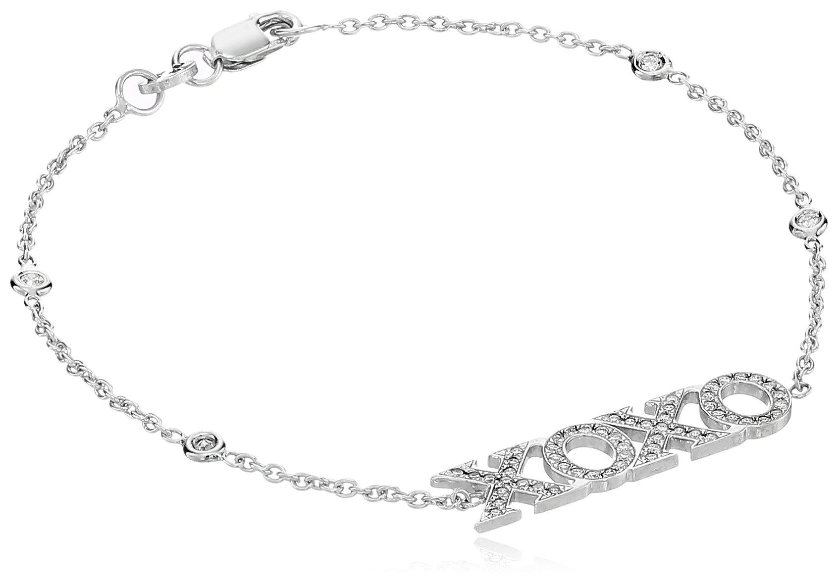 Roberto Coin Diamond XOXO Bracelet, White, One Size