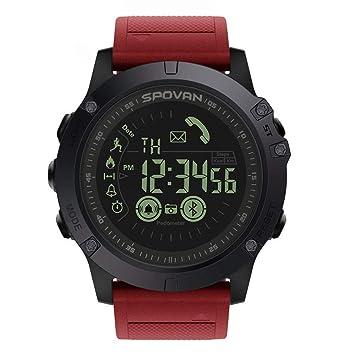 YZPZHSB Reloj Inteligente Bluetooth 33 Meses Tiempo en Espera 24 Horas Deporte Reloj Digital Reloj Inteligente Monitoreo de Todo Clima Reloj Inteligente ...