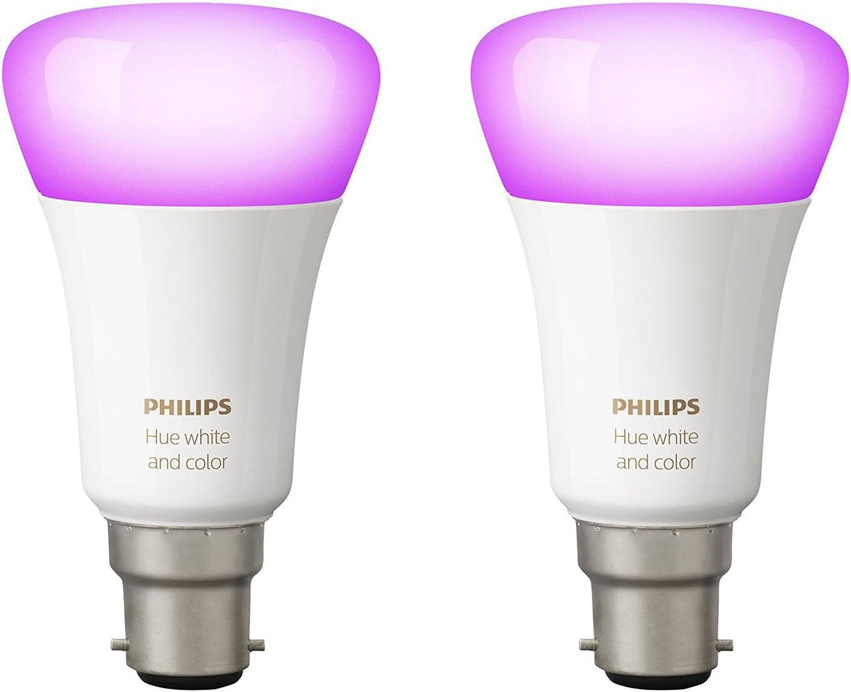 Philips Hue 2 focos white and colour ambiance LED 9.5 W E14 de luz ...