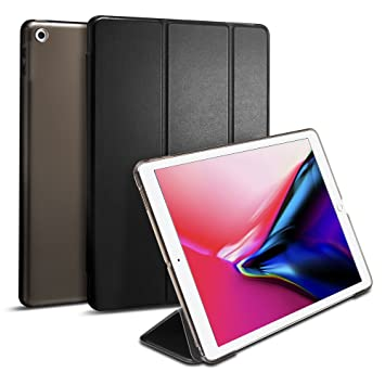 spigen iPad 9.7 Pulgadas 2018/2017 Funda, Smart Fold diseñado para iPad 9.7 Pulgadas, iPad 9.7 Pulgadas Case Cover - Negro