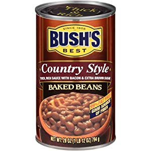 Bush's Best Country Style Baked Beans, 28 oz (12 cans)