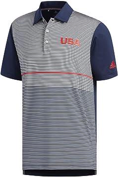 adidas USA Golf Ultimate Color Block Polo Navy/Grey Two/Collegiate ...