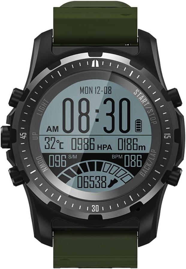 OOLIFENG Reloj Running con GPS, GPS para Ciclismo Velocímetros con Incorporado Pulsómetros, Barómetro, Brújula, Etc. para Al Aire Libre Aventurero