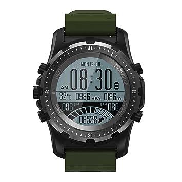 OOLIFENG Reloj Running con GPS, GPS para Ciclismo Velocímetros con Incorporado Pulsómetros, Barómetro, Brújula, Etc. para Al Aire Libre Aventurero,Green: ...