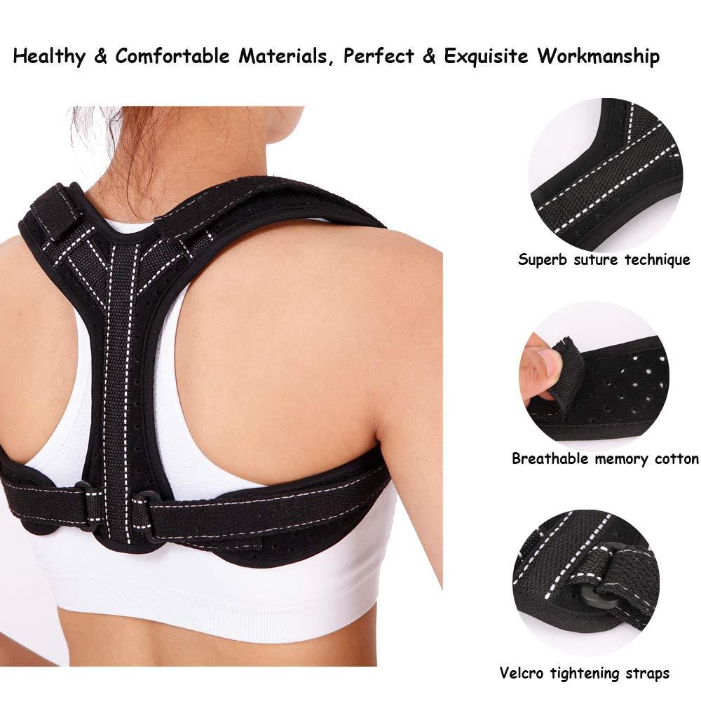 Alisador de la espalda con corrector de postura correcci/ón de la postura del hombro para encorvarse y encorvarse entrenador de soporte de la columna vertebral para el dolor de espalda superior