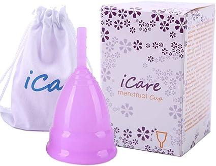 WEZZZ Copa Menstrual para Protección Femenina Higiénica ...