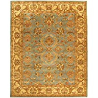 Safavieh Heritage Collection HG811B Handcrafted Traditional Oriental Blue and Beige Wool Area Rug (8 x 10)