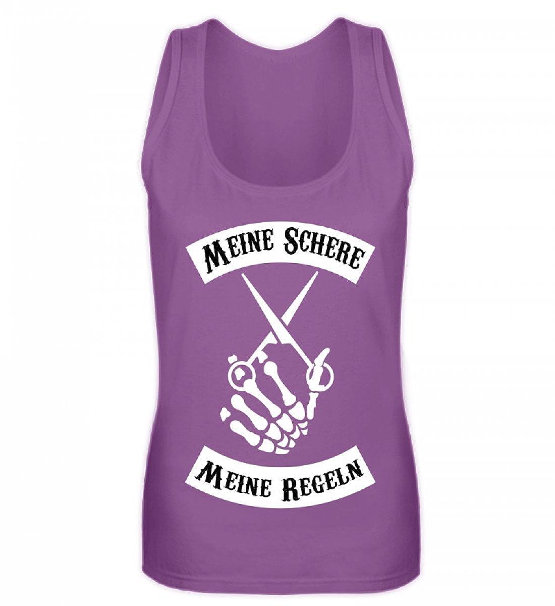 Hochwertiges Frauen Tanktop - Meine Schere Meine Regeln Friseur Shirt · Friseurin · Stylistin · Haare · Haarpflege Shirtee VSU221BB_3361__S__31