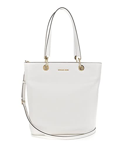 7beab60f9880 Michael Kors Raven Top Zip Leather Shoulder Bag Optic White  Handbags   Amazon.com