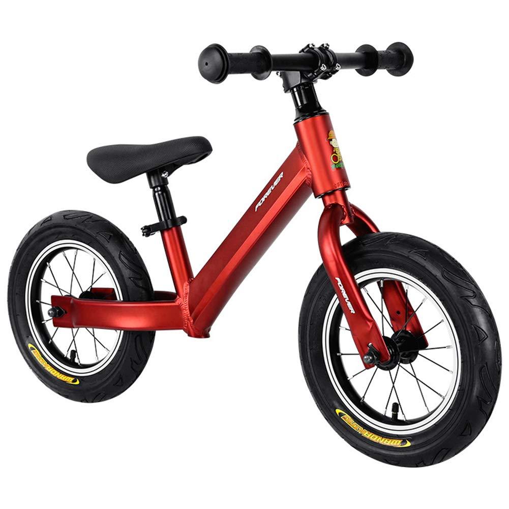 rojoXUE Bici del Equilibrio, para los Cabritos Marco de Aluminio ninguÌ n Pedal niño Que aprende la Bici 1 a 5 años ninguÌ n Pedal Deporte Entrenamiento Bicicleta Ajustable uomoillar y Asiento