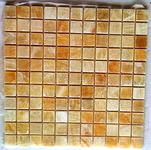 Wallandtile Honey Onyx 1'' Polished Mosaic Tile