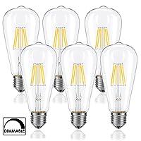 BOHON Dimmable LED Edison Bulb 60 Watt