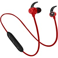 WeCool BassKing X5 High Bass Wireless Bluetooth Earphones with Mic| Waterproof Headphones + Free Carry Case (Red)