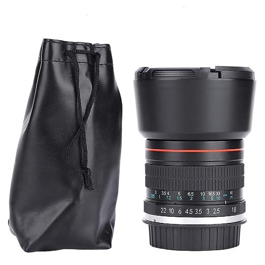 Simlug Focus Camera Lens Prime, 85 mm F1.8 Teleobjetivo Medio ...