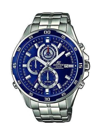 0fb122919a01 Casio Reloj Analogico para Hombre de Cuarzo con Correa en Acero Inoxidable  EFR-547D-2AVUEF  Casio  Amazon.es  Relojes