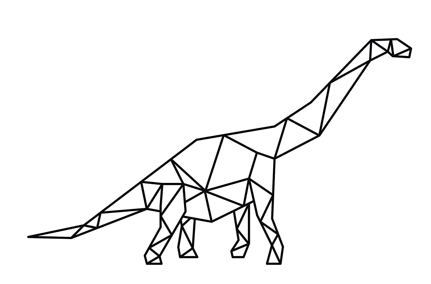 wall art sign for your home decor or as a personalised gift Brontosaurus wire silhouette Dinosaur