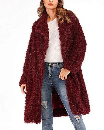 e076e000a23 Aox Women Winter Coat Grey Fluffy Faux Fur Hood Warm Thicken Casual Outdoor  Jacket Anorak Plus
