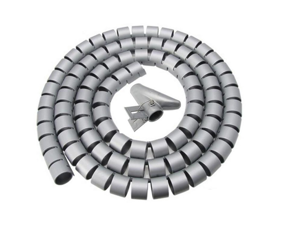 Cord Tube Sleeve Cable Management Cable Zipper Power Cord Cable Organizer Coiled Tube Sleeve Cable Used in Home & Office YL03yin15