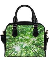 Angelinana Custom Women's Handbag Early Morning Sun in the Green Forest Fashion Shoulder Bag