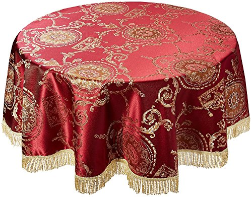 Violet Linen Prestige Damask Design Tablecloth 60