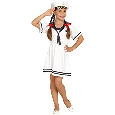 Widmann 03096 – Enfants Costume Sailor Girl, robe et chapeau