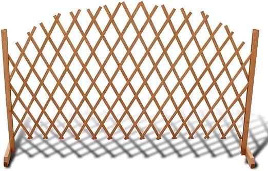Valla de Enrejado, Celosía de Madera Enrejada, Extensible, Estable, para jardín, balcón o terraza, 180x100 cm, Color marrón: Amazon.es: Hogar