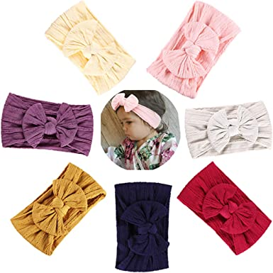 Joyfeels Store Baby Nylon headbands Turban Knotted Girls Hairband Super Soft and Stretchy Hair Wrap for Newborn Toddle Childrens