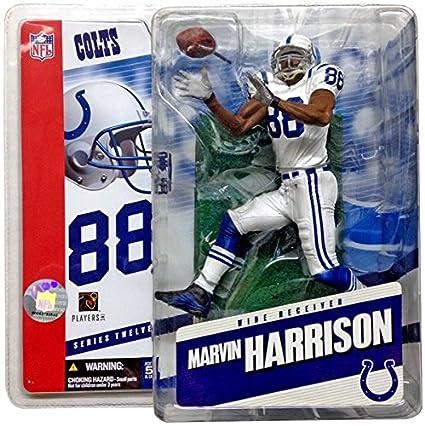 wholesale dealer e87f9 661b9 Amazon.com: McFarlane NFL 12 Marvin Harrison in Colts White ...