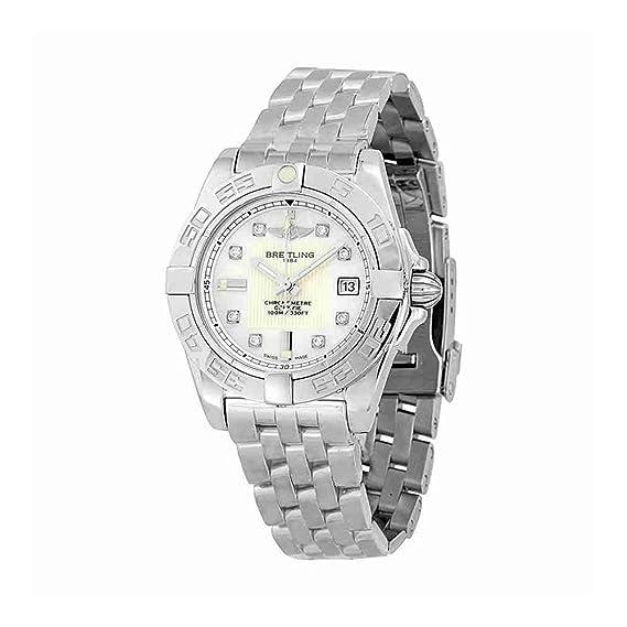 Breitling - Reloj de pulsera mujer, acero inoxidable, color plateado