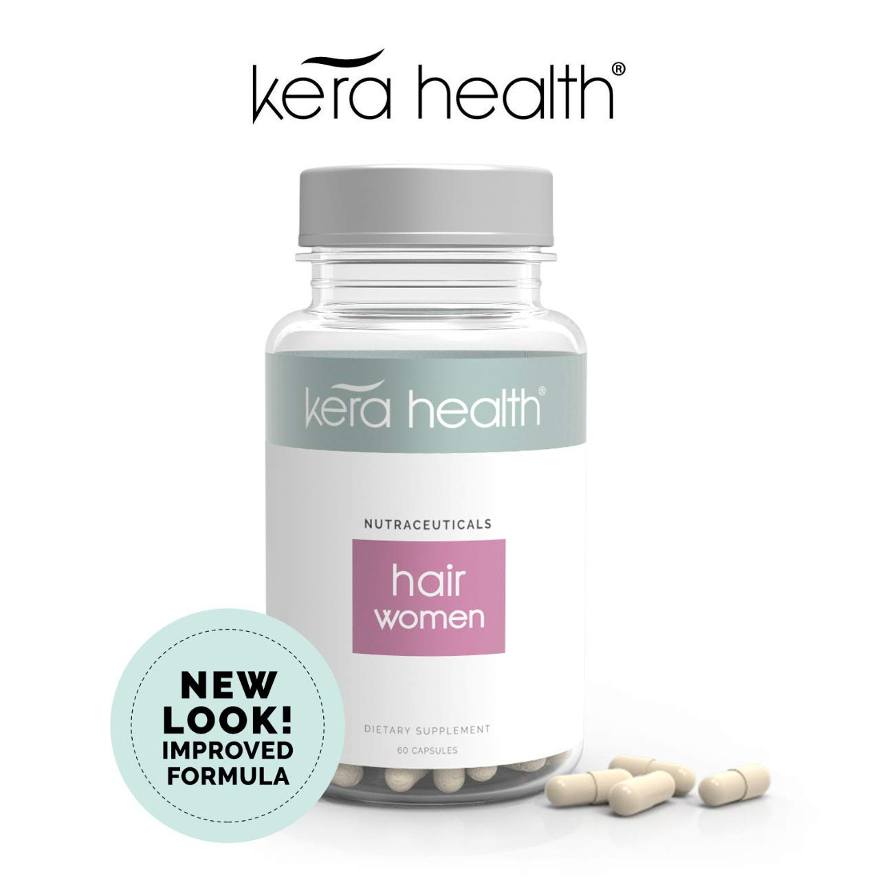 Kerahealth Hair Loss Thinning Vitamin Supplement Treatment Pills For Women With Biotin and Keratin Helps in Hair Growth -Clinically Tested Made With Natural & Safe Ingredients by KeraHealth