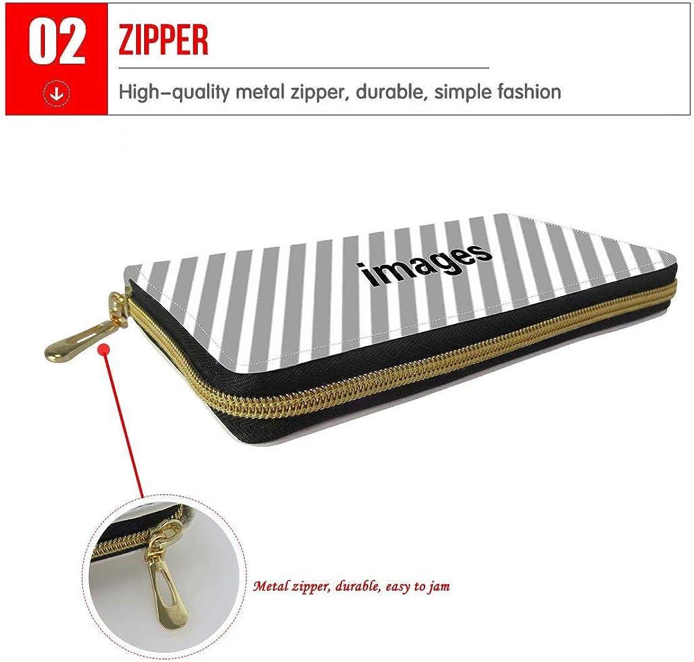 GePrint Large Capacity Long Wallet Cute Sloth Prints for Women PU Leather Zipper Purse