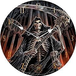 Anne Stokes Final Verdict Bedroom Wall Clock Gothic Grim Skeleton Reaper