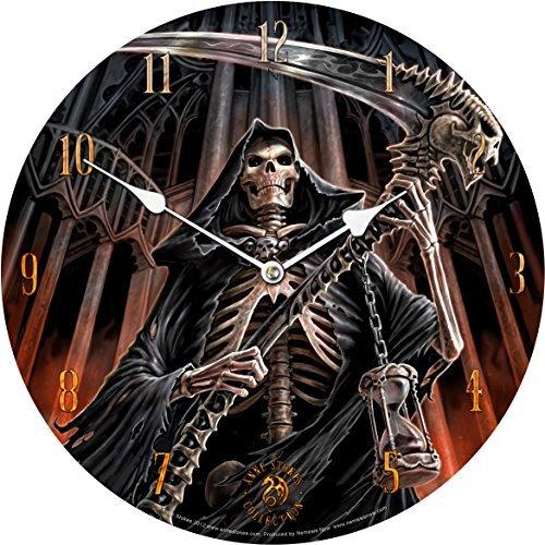 Anne Stokes Final Verdict Bedroom Wall Clock Gothic Grim Skeleton Reaper ()