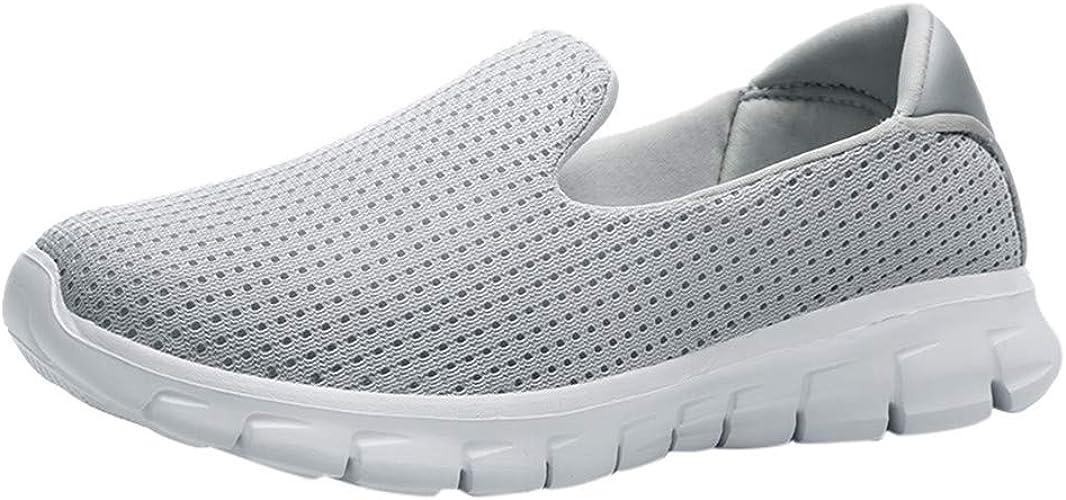 Womens gemütlich Fashion Casual Solid Sport atmungsaktiv leichte Slip On Schuhe Turnschuhe