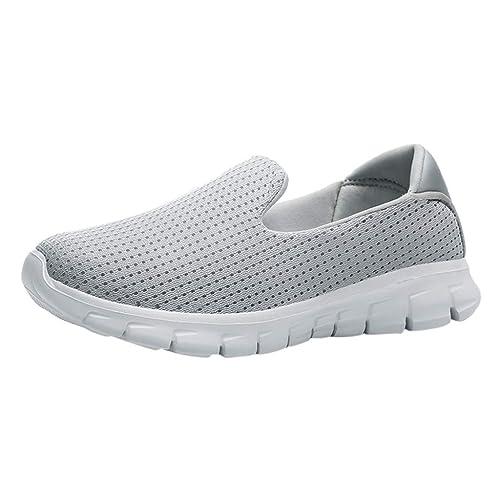 Schuhe Damen Ohne Schnürung Weiße Sohle Elegant Schuhe Frauen Mesh Atmungsaktiv Outdoor Freizeitschuhe Damen