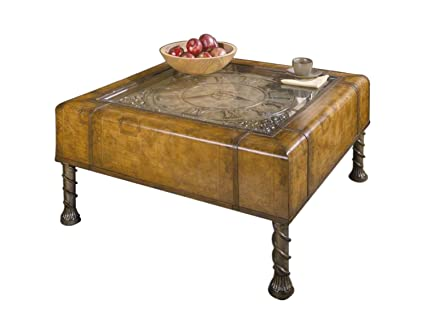 Old World Map Coffee Table.Amazon Com Butler 286070 Vasco Old World Map Clock Coffee Table