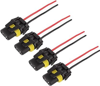 Headlight Socket Socket Lamps 9006 HB4 Bulb Repair Plug Male