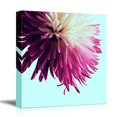 wall26 Square Canvas Wall Art - Pink Flower Petal - Giclee Print Gallery Wrap Modern Home Decor Ready to Hang - 16x16 inches