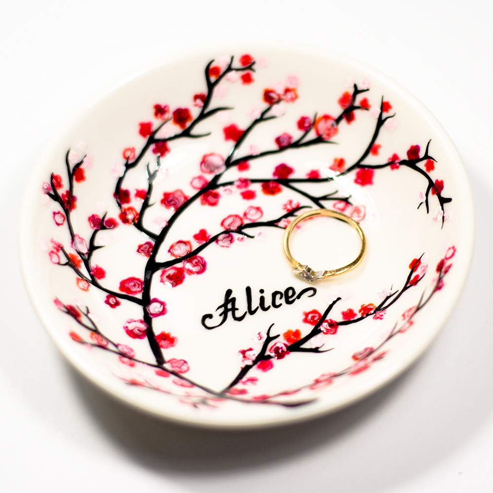 Wedding Ring Dish Personalized  Engagement Trinket Dish  Personalized Wedding Gift   Personalized Engagement Ring Gift  Bridal Shower