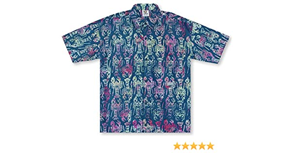 ca674b94f Rum Reggae Lobster Hawaiian Shirt at Amazon Men's Clothing store: