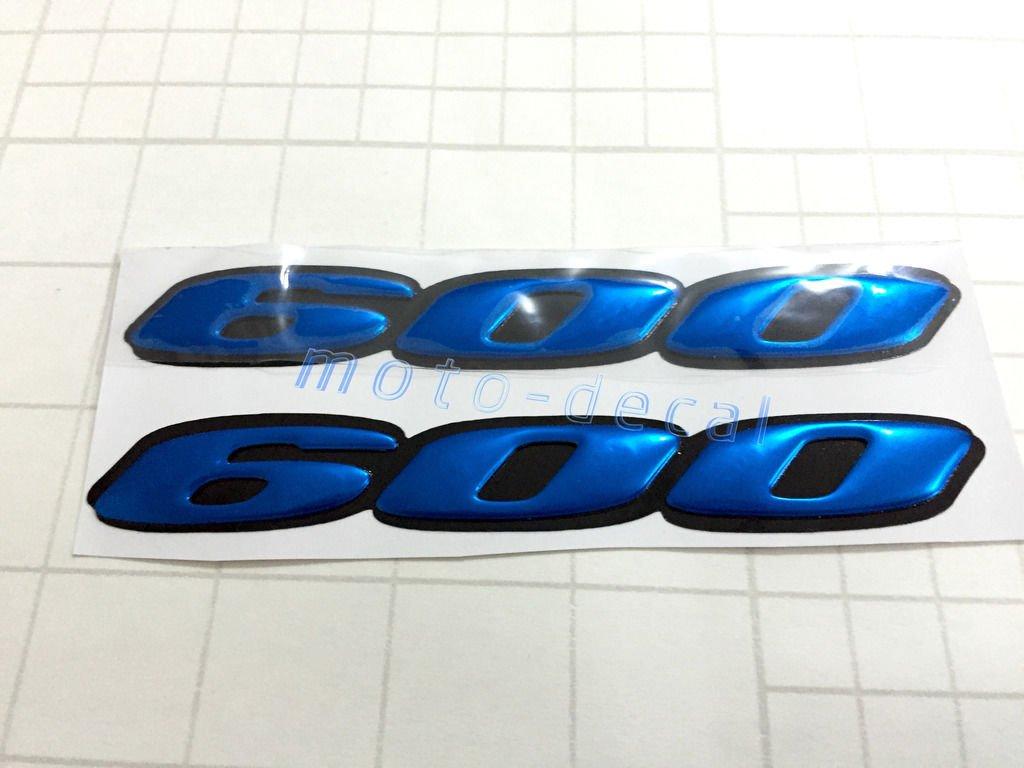 Decal Story 3D Emblem Sticker Decal Blue Raise Up Polish Gloss For Honda CBR 600 RR / Suzuki GSXR 600 DS