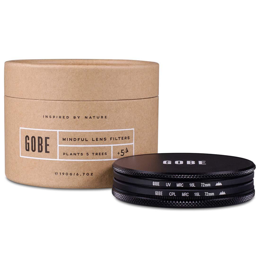 Gobe Filter Kit 72mm Schott MRC 16-Layer: UV + CPL Polarizer