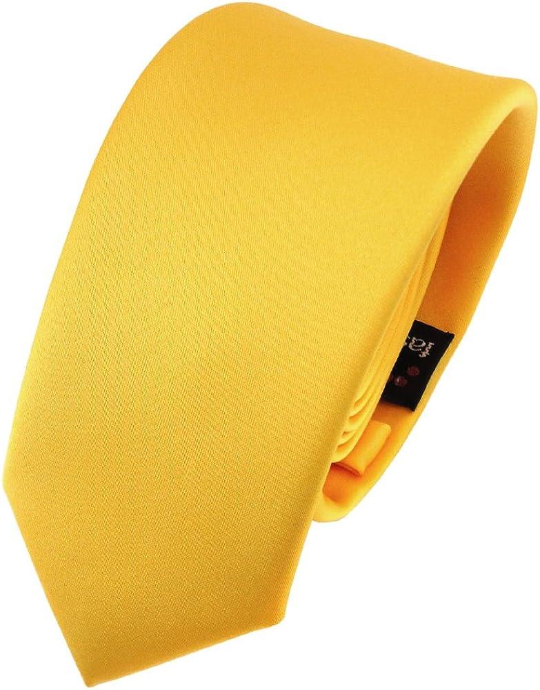 TigerTie - corbata estrecha - amarillo maíz-amarillo monocromo ...