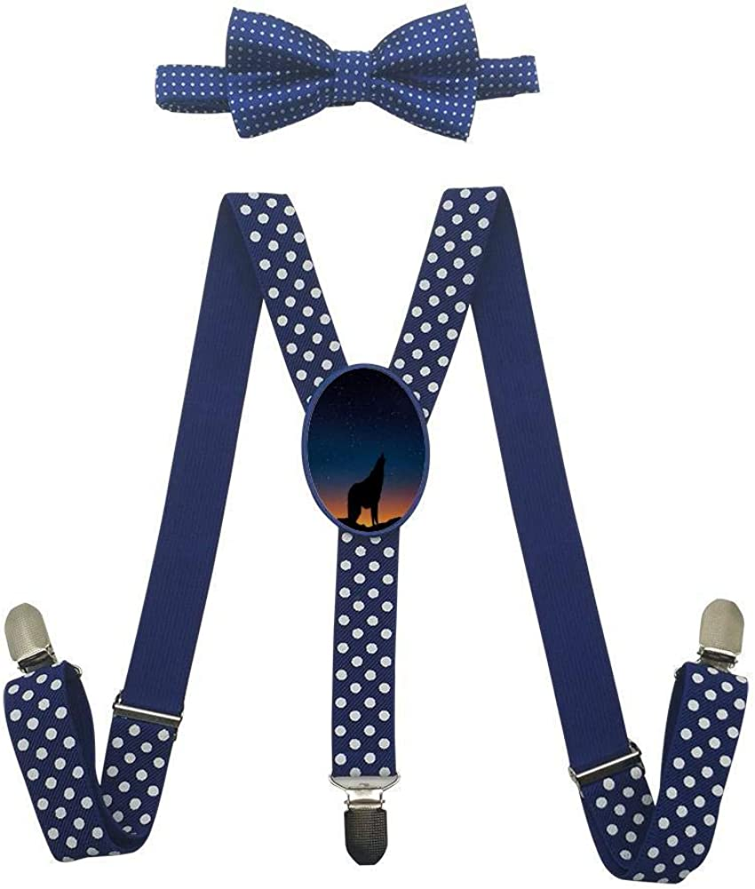 Night Gradient Starry Sky Childrens Fashion Adjustable Y-Type Suspension Belt Suit