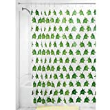 InterDesign Novelty EVA Shower Curtain, 72 x 72-Inch, Turtle, Clear/Green