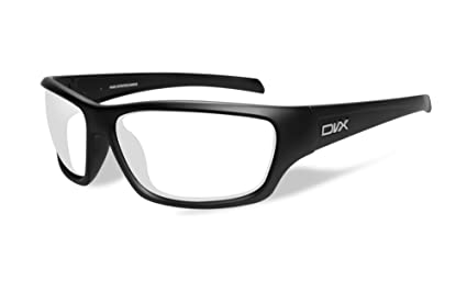 3a9282c6ab Image Unavailable. Image not available for. Color  DVX by Wiley X -RAGE- SAFETY  GLASSES- CLEAR LENSES MATTE BLACK FRAME